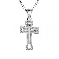 Anhänger Sterling Silber Imitation Diamant Kreuzform Kreuz Silber Schmuck Alltag Normal 1 Stück