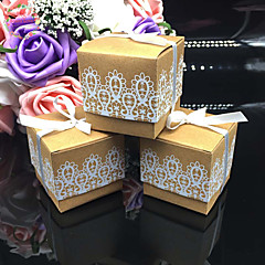 50pcs/lots Lace Kraft Wedding Favor Box Wedding and Party Decoration Candy box Paper box Wedding Party Supplies