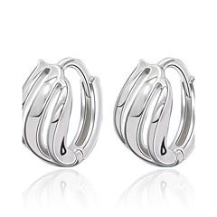 Kubikzirkonia Kreolen Schmuck Hochzeit Party Alltag Normal Künstliche Perle 1 Paar Silber