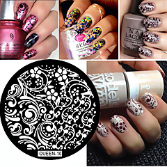 1pcs  Flowers Leaves Vines Nail Art Stamp Template Image Transfer Stamp