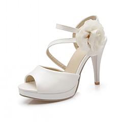 Kényelmes Újdonság-Stiletto-Női cipő-Szandálok-Irodai Party és Estélyi Alkalmi-PU Szintetikus Bőrutánzat-Kék Rózsaszín Lila Fehér