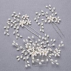 Alliage Imitation de perle Casque-Mariage Occasion spéciale Serre-tête barre Cheveux 3 Pièces
