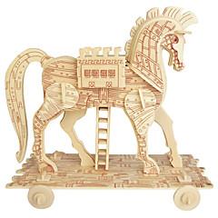 Puzzle Dřevěné puzzle Stavební bloky DIY hračky Kolo Kůň 1 Dřevo Křišťálový Modelování