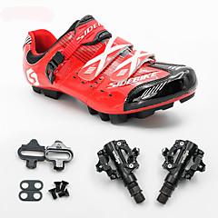 BOODUN/SIDEBIKE® joggesko Mountain Bike-sko Sykkelsko med pedal og tåjern Unisex Demping Fjellsykkel ånd bare Blanding PU Sykling