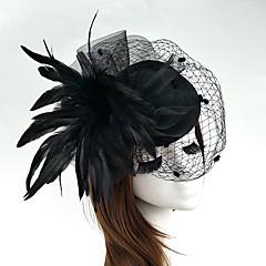 Φτερό Δίχτυ Headpiece-Γάμος Ειδική Περίσταση Διακοσμητικά Κεφαλής Λουλούδια Καπέλα Βέλα κλουβιού πουλιών Coroane 1 Τεμάχιο
