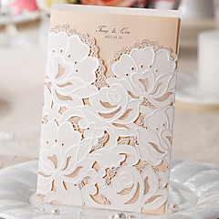 Non-personalized Wrap & Pocket Wedding Invitations Invitation Cards-50 Piece/Set Classic Style Pearl Paper