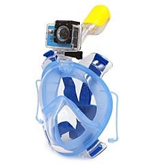 Felszíni búvárkodás csomagok Snorkel maszk Teljes arc Búvárkodás és felszíni búvárkodás Búvárkodás PVC Műanyag Szilikon-WINMAX
