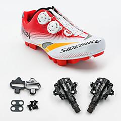 Tênis Sapatilhas de Ciclismo com Travas & Pedal Unisexo Almofadado Bicicleta De Montanha
