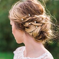 合金 人造真珠 かぶと-結婚式 パーティー カジュアル ヘアピン ヘアスティック ヘアメイクツール 20個
