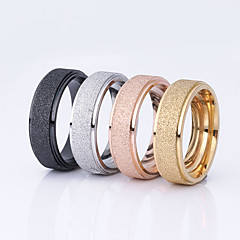 Couple's Couple Rings Basic Costume Jewelry Stainless Steel Round Jewelry For Wedding Party Special Occasion Daily Casual