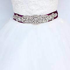 Satijn Huwelijk Feest/Uitgaan Dagelijks gebruik Sjerp-Sierstenen Strass Imitatieparel 98½In (250Cm) Sierstenen Strass Imitatieparel