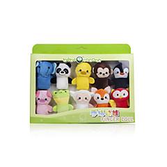 צעצועים ממולאים בובות בובות אצבע צעצועים חיה לילדים בגדי ריקוד ילדים 1 חתיכות