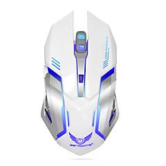 コンピュータのデスクトップノートパソコンのノートパソコンのための充電式ワイヤレスゲームマウス7色バックライトブレスコンフォートゲーマーマウス