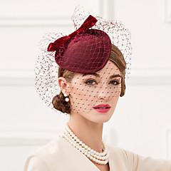 צמר רשת כיסוי ראש-חתונה אירוע מיוחד קז'ואל משרד וקריירה קישוטי שיער כובעים Birdcage Veils חלק 1