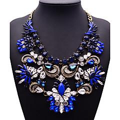여성용 문 목걸이 보석류 보석류 보석 합금 패션 Euramerican 골드 밝은 블루 라이트 그린 보석류 용 파티 1PC