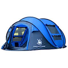 GAZELLE OUTDOORS 3-4 사람 텐트 싱글 캠핑 텐트 원 룸 텐트 팝업 방수 방풍 자외선 방지 폴더 용 하이킹 캠핑 2000-3000 mm 유리 섬유 옥스포드-290*200*130 CM