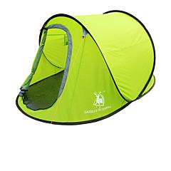 2 사람 텐트 싱글 자동 텐트 원 룸 캠핑 텐트 유리 섬유 옥스퍼드 방수 호흡 능력 자외선 저항력 바람 방지 폴더-하이킹 캠핑 야외-아미 그린