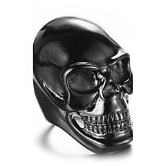 Tyylikkäät sormukset Sormus Muoti Punk-tyyli Personoitu Hip-Hop Rock Euramerican Titaaniteräs Skull shape Kulta Valkoinen Musta Korut