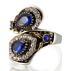 ステートメントリング 指輪 ユニーク ファッション ビンテージ あり 欧米の 高級ジュエリー ステートメントジュエリー ガラス 合金 円形 幾何学形 ジュエリー のために パーティー 誕生日 日常 カジュアル 1個