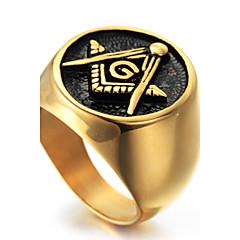 Tyylikkäät sormukset Sormus Muoti Punk-tyyli Personoitu Hip-Hop Rock Euramerican Titaaniteräs Geometric Shape Kulta Korut VartenParty