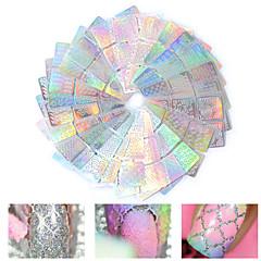 לייזר חלול מסמר אמנות 3D מדבקות איפור קוסמטיקה מסמר אמנות עיצוב 12pcs (צבע אקראי)