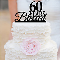 Personalized Acrylic Anniversary Cake Topper