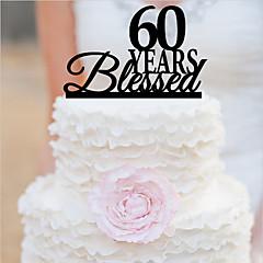 케이크 장식 개인화 아크릴 웨딩 기념일 결혼 측하 생일 가든 테마 클래식 테마 OPP