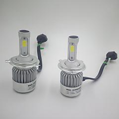 2pcs / set h4 36w 80000lm carro médios / oi levou faróis lâmpadas nevoeiro iluminação lâmpadas H4 oi / lo CABEÇA LED iluminações auto