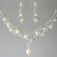Dames Hangertjes ketting Drop Imitatieparel Strass Basisontwerp Sieraden Voor Bruiloft Feest Speciale gelegenheden Verjaardag Verloving1