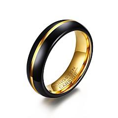 Heren Ring Basisontwerp PERSGepersonaliseerd Euramerican Eenvoudige Stijl Kostuum juwelen Modieus Verguld Wolfraamstaal Cirkelvorm Ronde