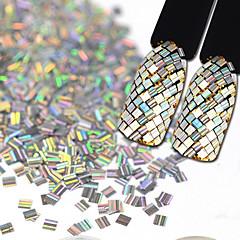 3 * 3mm 스트 라이프 레이저 컬러 음모 paillette 네일 아트 장식 2g