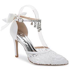 נשים-סנדלים-משי חומרים בהתאמה אישית-שפיץ ושני חלקים--חתונה שטח משרד ועבודה שמלה יומיומי מסיבה וערב-עקב סטילטו