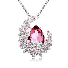 בגדי ריקוד נשים שרשרת תכשיטים תכשיטים קריסטל אבן נוצצת סגסוגת אופנתי Euramerican תכשיטים עבור חתונה Party