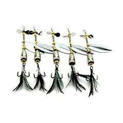 5 個 メタルベイト ハードベイト バズベイト&スピナーベイト スプーン グラム/オンス mm インチ 海釣り ベイトキャスティング スピニング ジギング ルアー釣り 流し釣り/船釣り