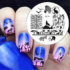BORN PRETTY Zebra Wolf Animal Patterns Nail Art Stamp Template Image Plate BP16 Nail Stamping Plates Set Nails Tool