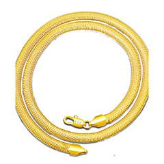 Heren Choker kettingen Sieraden Sieraden Verguld Eenvoudige Stijl Sieraden Voor Dagelijks Causaal 1 Pak