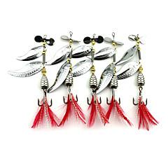 5 ks Pohyblivé návnady Lžíce Kovové návnady g/Unce mm palecMořský rybolov Muškaření Bait Casting Spinning Lov okounů Rybaření na háček