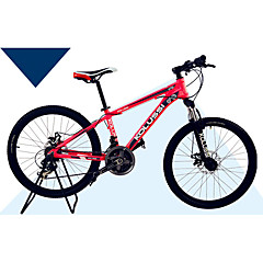 אופני הרים רכיבת אופניים 24 מהיר 24 אינץ' דיסק בלימה כפול מזלג שיכוך שלדת סגסוגת אלומיניום שלדת זנב קשה נגד החלקה סגסוגת אלומיניום סגסוגת
