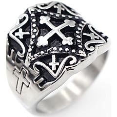 טבעת תכשיטים צלב פלדת על חלד Cross Shape תכשיטים ל אירוע מיוחד יומי קזו'אל Christmas Gifts יחידה1