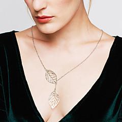 Žene Ogrlice s privjeskom Leaf Shape Plastika Prilagodljivo Moda Pink Zlatan Jewelry Za Vjenčanje Party Dnevno Kauzalni 1pc