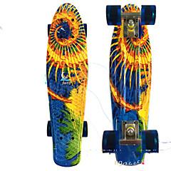 PP (폴리프로필렌) 어른' 표준 스케이트 보드 22인치 전문적인 ABEC-7-화이트 오렌지 옐로우 레드 블루