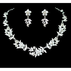 Women's Jewelry Set Rhinestone Flower Style Imitation Pearl Rhinestone Alloy For Wedding Party Special Occasion Anniversary