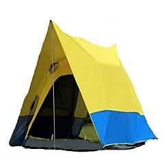 3-4人 テント ダブル 自動テント 1つのルーム キャンプテント >3000mm テリレン シルバーテープ 通気性 防塵 折り畳み式-キャンピング&ハイキング-