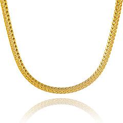 Miesten Naisten Kaulaketjut Geometric Shape Käärme Gold Plated Uniikki pukukorut Euramerican Statement-korut Korut Käyttötarkoitus Party