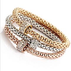 Femme Fille Chaînes & Bracelets Bracelets Rigides Bracelets Imitation de diamant Naturel Amitié Alliage de fer Forme Ronde Bijoux Pour