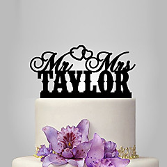 Personalized Acrylic Classic Bride And Groom Wedding Cake Topper