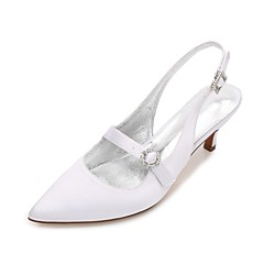 Ženske Vjenčanje Cipele Udobne cipele Obične salonke Remen oko gležnja Saten Proljeće Ljeto Vjenčanje Formalne prilike Zabava i večer