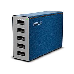 USB 충전기 5 포트 데스크 충전기 스마트 식별 전세계 충전 어댑터