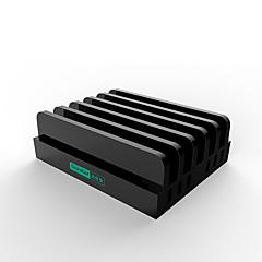USB 충전기 6 포트 데스크 충전기 스마트 식별 스탠드 독 충전 어댑터