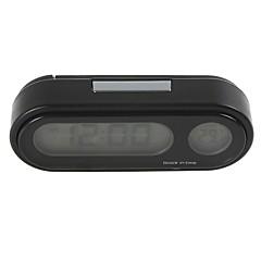 Ziqiao moda carro relógio auto veículo mini retrovisor vute termômetro relógio tempo relógio eletrônico carro
